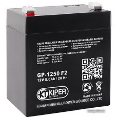 Мотоциклетный аккумулятор Kiper GP-1250 F2 (12В/5 А·ч)
