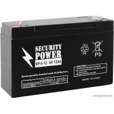 Мотоциклетный аккумулятор Security Power SP 6-12 F1 (6В/12 А·ч)